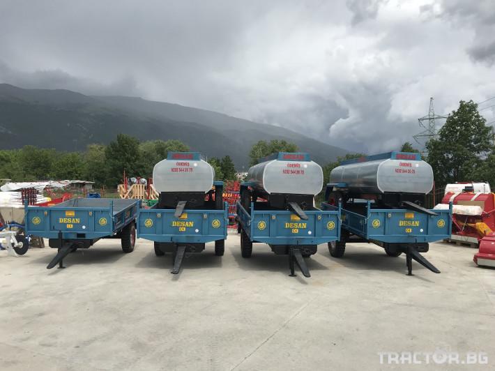 Ремаркета и цистерни Ремарке DESAN едноосно 4 тона - саморазтоварващо 1 - Трактор БГ
