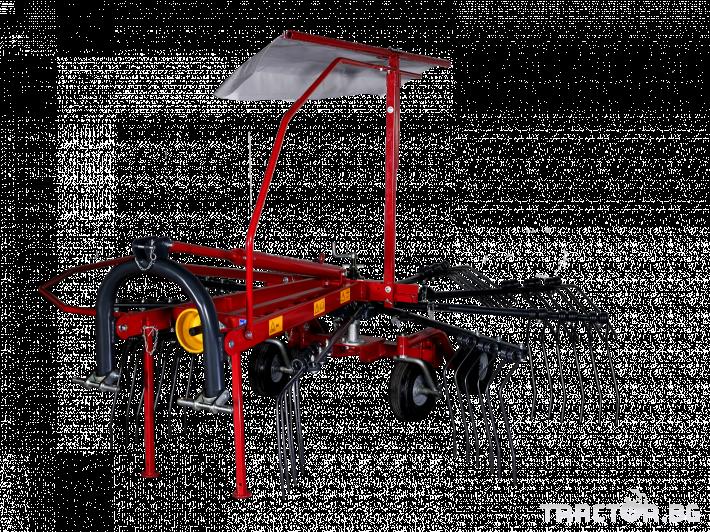 Сенообръщачки Agromehanika Ротационен сеносъбирач 3,2 метра с 4 колела 0 - Трактор БГ