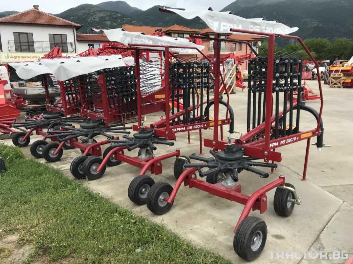 Сенообръщачки Agromehanika Ротационен сеносъбирач 3,2 метра с 4 колела 1 - Трактор БГ