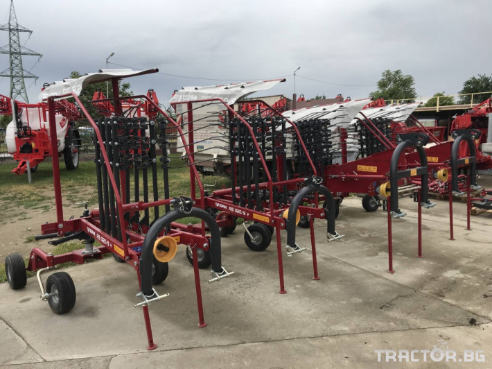 Сенообръщачки Agromehanika Ротационен сеносъбирач 3,2 метра с 4 колела 2 - Трактор БГ