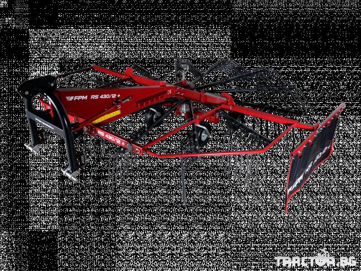 Сенообръщачки Agromehanika Ротационен сеносъбирач 4,10 метра с 4 колела 1 - Трактор БГ