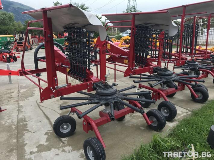Сенообръщачки Agromehanika Ротационен сеносъбирач 4,10 метра с 4 колела 2 - Трактор БГ