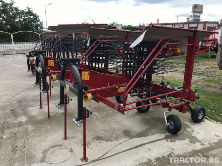 Сенообръщачки Agromehanika Ротационен сеносъбирач 4,10 метра с 4 колела 3 - Трактор БГ